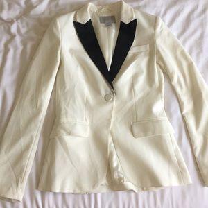 H&M white with black blazer